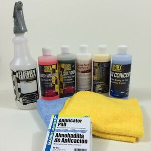 ardex professional car detailing kit with leather cleaner conditioner 16 oz diy ebay. Black Bedroom Furniture Sets. Home Design Ideas