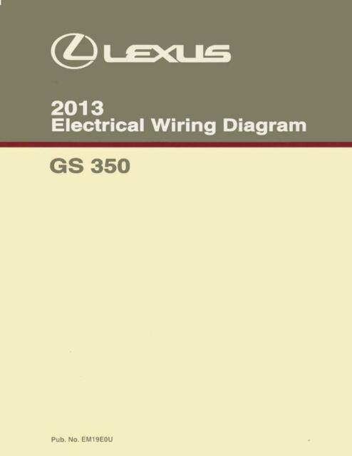 2013 Lexus Es 350 Wiring Diagrams Schematics Layout Factory Oem For