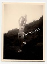 Nudism CHEERFUL WOMAN UNDRESSING BEIM AUSZIEHEN FKK * Vintage 30s Amateur Photo