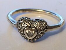 7c3722d8a ... discount code for authentic pandora silver in my heart cz ring size 54  190877 7a811 870c2 ...