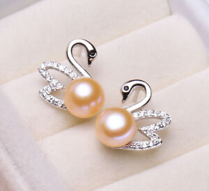 B07-Earring-Swan-Freshwater-Pearl-Pink-and-Zirconia-Sterling-Silver-925