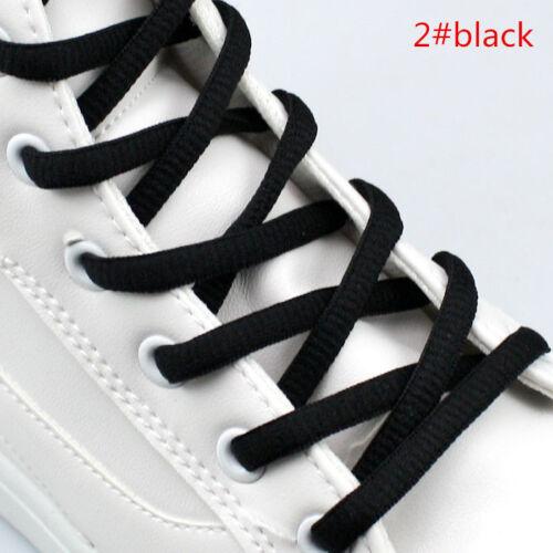 Semicircle Coloured Shoe Laces Shoelaces Bootlaces 6mm Wide-4 Lengths 31 Colours