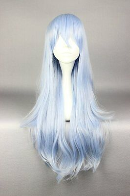 SyntheticCosplay Inazuma Long Light Blue Mixed Lolita Women Anime Party WIG 577F