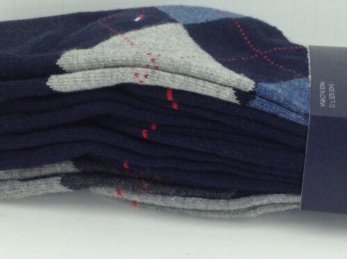 Chemise homme TOMMY HILFIGER BLEU GRIS ARGYLE 34/% Coton Robe Chaussettes Pack De 4 $36 fabricants Standard prix de détail