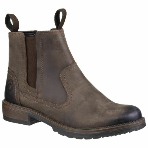 Cotswold Laverton Brown Ladies Ankle Boots Full Grain Leather
