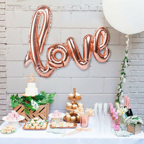 LOVE Shape Foil Balloons Large Helium Number Wedding Birthday Party Souvenirs