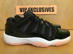 6fd9bc6ff590cb NIKE AIR JORDAN 11 RETRO XI LOW CORAL BLACK 580521-013 Boys 4-7 ...