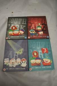 SOUTH PARK DVD SETS 1 -4 (2-4 ARE NEW AND UNOPENED) CERT 15