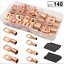 thumbnail 1 - 140PC Heavy Duty Wire Lugs Battery Cable Tinned Copper Eyelets SC Ring Terminals