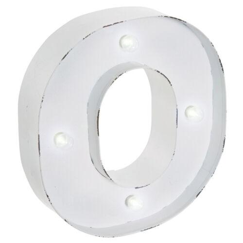 LED Lights Alphabet Number Indoor Wall Hanging Art Plaque White Metal DIY Decor