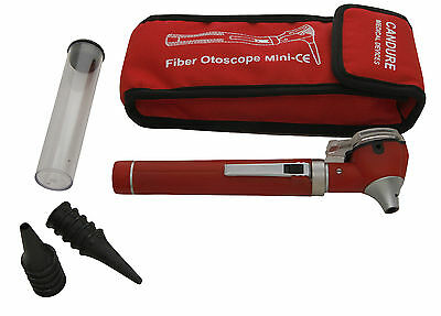 Otoscope Fiber Optic Medical ENT Diagnostic Examination Opthalmoscope ENT RED