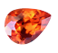 thumbnail 2 - Flawless 4.90 Ct Natural Fire Orange Sapphire CERTIFIED Pear Sparkling Gemstone