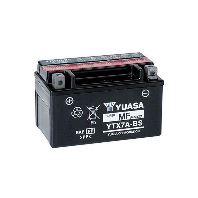 Batteria YUASA YTX7/A-BS 12/V//6ah dimensioni: 150/X 87/X 94 per SYM//sanyang Fiddle II 125/anno di costruzione 2012