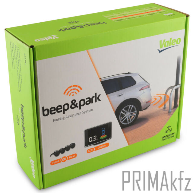 Valeo Beep /& Park Parking Aid with 4/ Sensors and LCD Display For Front Or Rear Fitting Part 632201/ Black