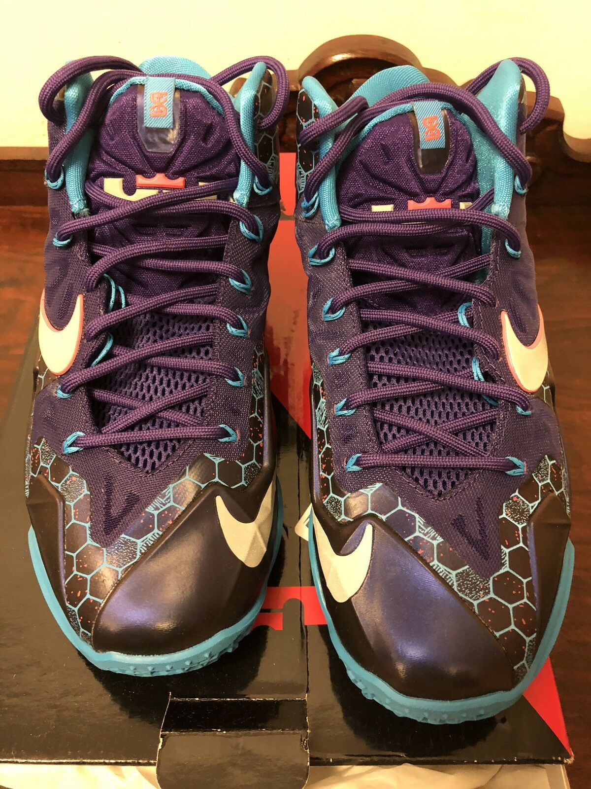 low priced 7395c b883b ... shoes usa bianco obsidian 9ff26 8a58d  coupon for nike 7 lebron hornets  11 xi summit lake hornets lebron size 7 nike b7241c