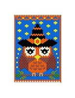 Cute Little Witch Owlpony Bead Banner Pattern Only