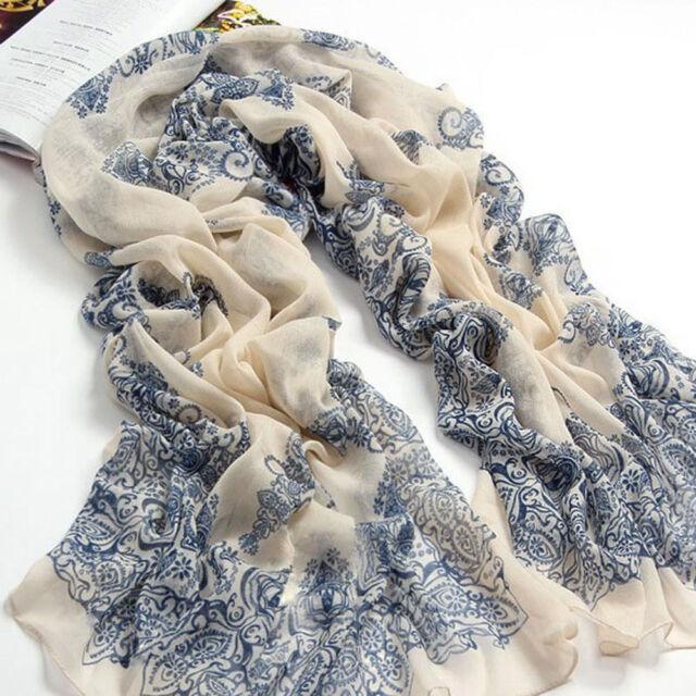 New Fashion Women Long Cotton Scarf Wrap Ladies Shawl Girls Large Silk Scarves
