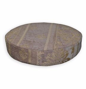 We203r-Mauve-Damask-Stripe-Chenille-3D-Box-Round-Shape-Sofa-Seat-Cushion-Cover