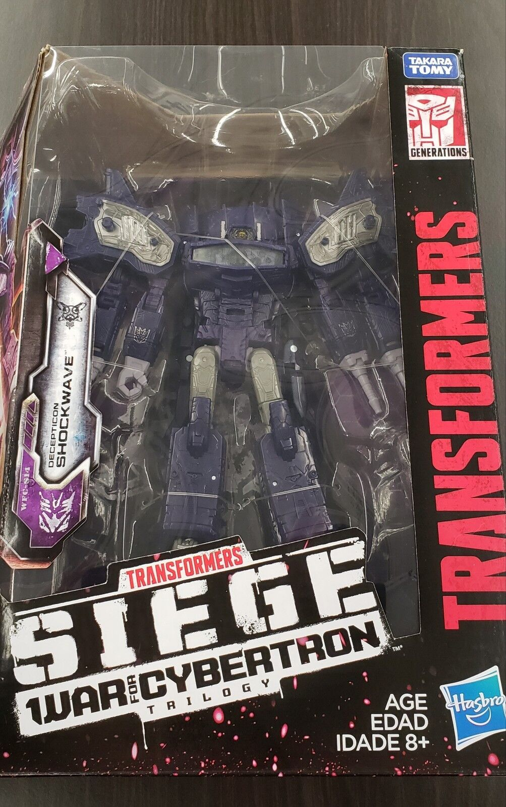 LEADER classe SHOCKWAVE TRANSFORMERS SIEGE WAR FOR CYBERTRON TRILOGY nuovo HTF