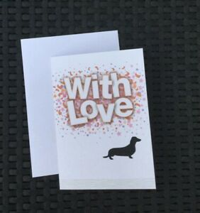 Dachshund Sausage Dog Handmade Birthday Wedding Love Card Ebay