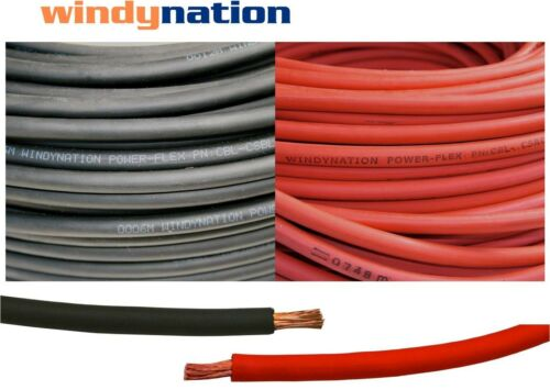 40/' 4 AWG WELDING CABLE  20/' Red 20/' Black GAUGE COPPER WIRE BATTERY SOLAR LEADS
