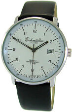 Eichmüller Quarz Herrenuhr mens watch Bauhaus Stil Ø38mm max . 3 ATM MIYOTA Werk