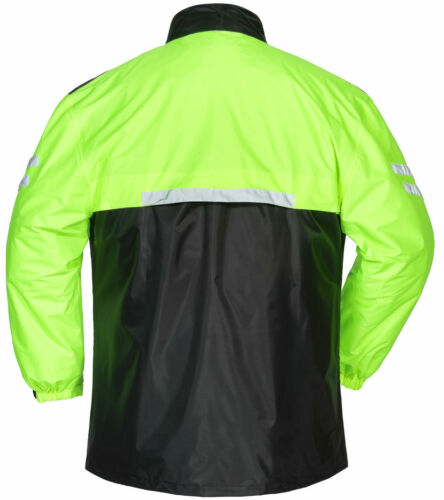 Brand New Tourmaster Shield MENS 2-Piece Motorcycle Rain Suit Black//Hi-Viz