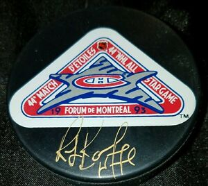 Ray-Bourque-SIGNED-44-NHL-ALL-STAR-GAME-1993-PHILADELPHIA-SPECTRUM-GAME-PUCK