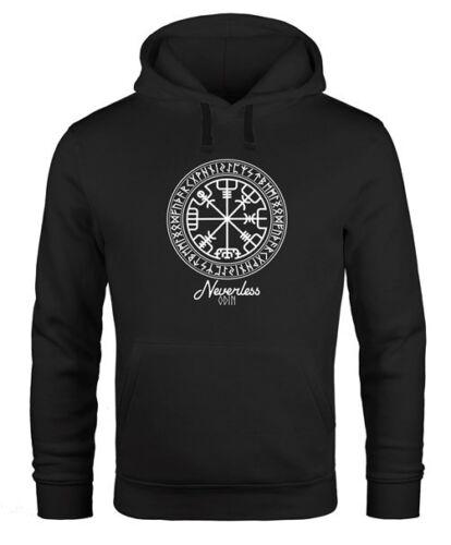 Hoodie uomo vichinghi simbolo rune mappa con cappuccio-Maglione uomini neverless ®