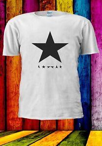 David-BOWIE-Blackstar-Ispirato-Retro-Ziggy-Uomini-Donne-Unisex-T-shirt-2894