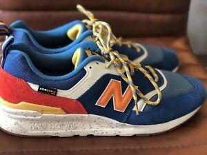 New-Balance-997H-Mens-Shoe-Blue-Orange-Red-Size13-Cordura-fabric-tech-NIB