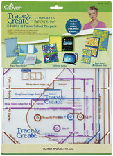 DRESDEN PLATE /& FAN COLLECTION TRACE /'N CREATE QUILT TEMPLATES #9514 by CLOVER