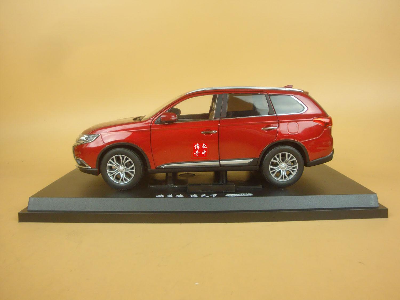 1 18 Nouveau Mitsubishi Outlander Diecast Modèle Couleur Rouge