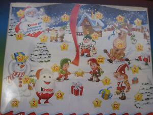 Kinder Calendario Avvento 2020.Dettagli Su Natale Calendario D Avvento Da Tavola Italia Kinder 2017 Nuovo