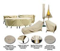 Treasure Garden Gator Weave Umbrella And Patio Furniture Winter Covers