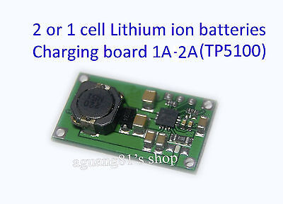 2 cells / single Lithium ion Battery Charger Module 1-2A PCB 18650 TP5100 iphone
