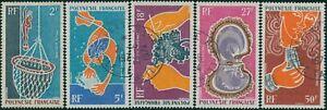 French-Polynesia-1970-Sc-C57-C61-SG116-120-Pearl-diving-set-FU