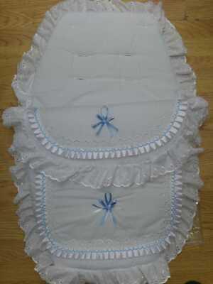 Bellissimo. Carrozzina Cosytoes Sacco Imbottito. Romany. Stile Bling Bianco/blu- Fornire Servizi Per Le Persone; Rendere La Vita Più Facile Per La Popolazione