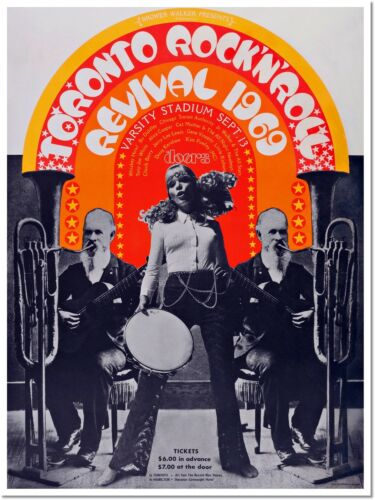 Toronto Rock/'n Roll Revival 1969 Vintage Music Concert Poster Reproduction
