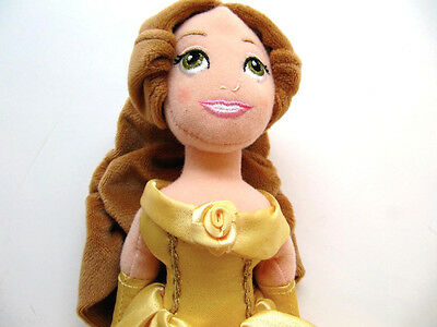 Belle Doll Disney Store Plush Stuffed 11.5 in. tall Disney Beauty and the Beast