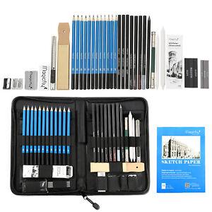 41pc-Sketch-and-Drawing-Pencils-Set-Sketching-Art-Kit-Art-Supplies-Art-amp-Bag
