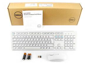 DELL KM636 Wireless Keyboard and Mouse Set Combo Kit UK Layout WHITE 580-ADFP