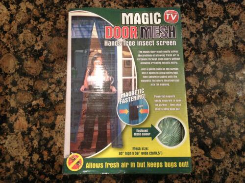 Magic door mesh mosquito bug fly guêpe mains libres insecte nouveau qualité snap screen