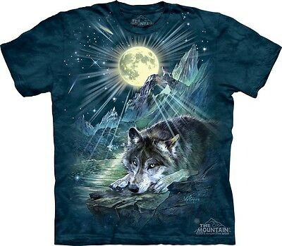 Wolf Night Symphony T-Shirt by The Mountain. Full Moon Wolves Sizes S-5XL New