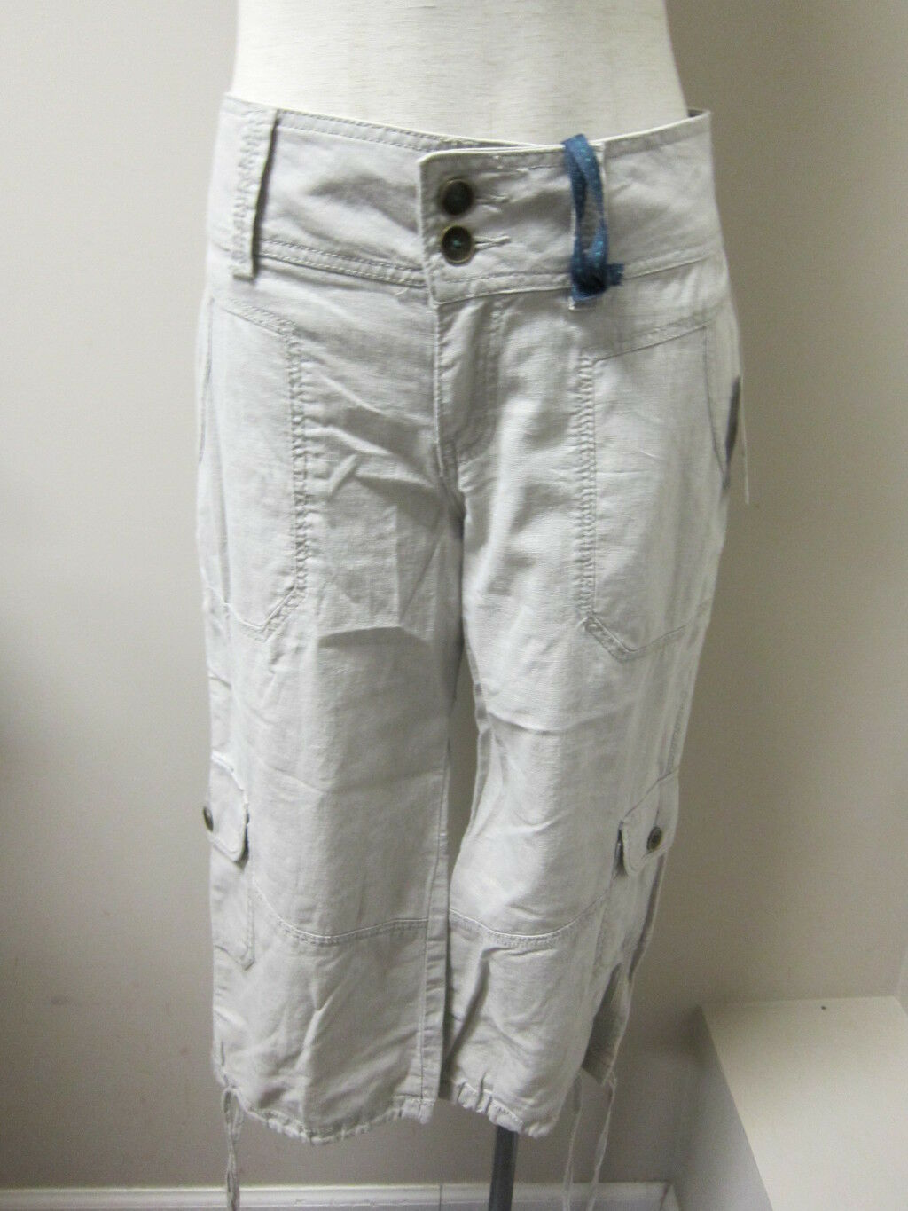 WORN JEANS Catherine Crop Linen Pant 8 NWT  79