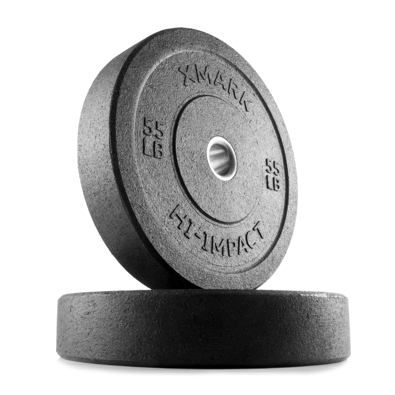 XMark HI-IMPACT 55 lb. Pair  of Olympic Bumper Plate Weights XM-3391-55-P  luxury brand