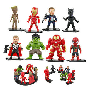 Marvel-Avengers-Infinity-War-Cake-Toppers-8pcs-set-Figures-w-Base-Bday-Gift-Toy