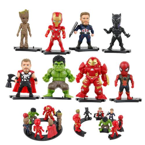 The Avengers Figure 8pcs Set Spiderman Hulk Captain Iron Man Thor Figurine Toy