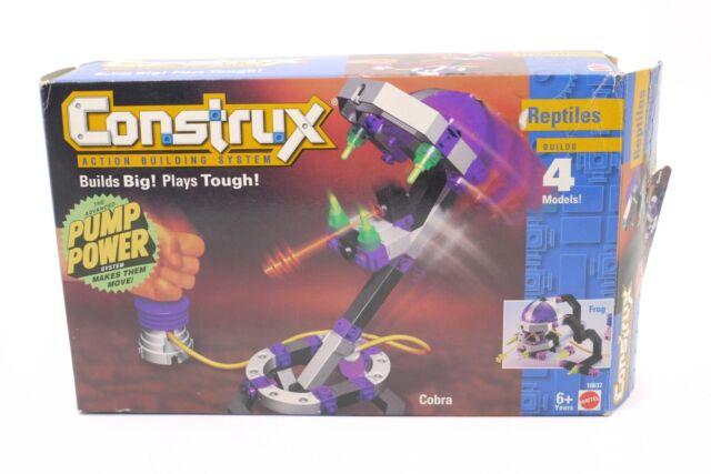 RARE VINTAGE 1997 CONSTRUX DINOS 3 MODELS BUILDING SET MATTEL NEW SEALED !