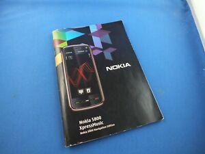 Original NOKIA 5800 XpressMusic Bedienungsanleitung Buch Deutsch Handy Anleitung